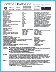 Acting Resume Example Resumes Professional Template Gorgeous Ideas