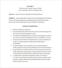 Conference Planner Resume Template. Free Download. An event manager's ...