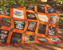 T-Shirt Quilt Custom Made Order By-the-Block TShirt Quilt & Harley Davidson themed 25 Block TShirt Quilt Custom Made Queen Size Adamdwight.com