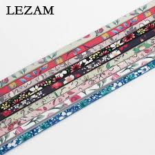 1 yard mixed colors flower pattern faux leather cord for diy 5mm flat leather bracelet making malaysia