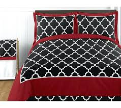 red twin comforter set and black sets