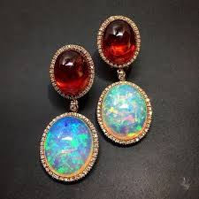 411 best opals necklaces images on large opal earrings