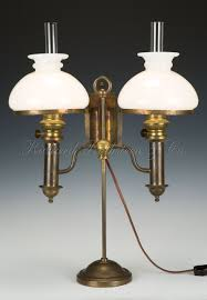 antique brass table lamps photo 2