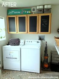 kitchen laundry room cabinets laundry. Laundry Room Makeover A Renter Friendly Cabinet Makeover, Chalkboard Paint, Kitchen Cabinets, Cabinets