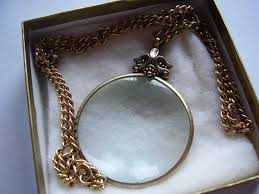 vintage avon necklace magnifying