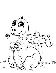 Schattige Kleine Dinosaurus Kleurplaat Gratis Kleurplaten Printen