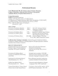 Sample Resume For Teachers Resume For A Secondary School Teacher 82