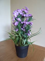 uk gardens artificial flowers large lilac purple artificial phlox plant house indoor office ukg3070