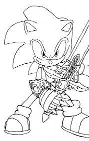 Small Picture Free Printable Sonic The Hedgehog Coloring Pages For Kids with