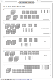 thousands hundreds tens ones | Sheet 1 | Sheet 2 | Sheet 3 | Math ...