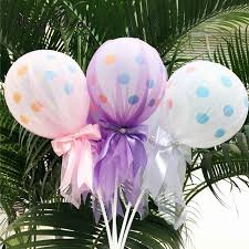 diy tulle chair sashes inspirational magideal beautiful 12 inch bow polka dot latex balloon with tulle