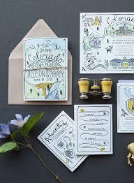 best 25 illustrated wedding invitations ideas on pinterest Personalised Drawing Wedding Invitations illustrated adventure driven wedding invitations Peacock Wedding Invitations