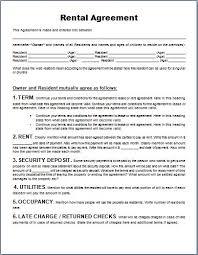 Apartment Rental Agreement Form Rental Agreement Form Word Amazing Apartment Rental Agreement Template Word