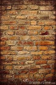 antique brick wall with dark frame