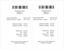 Bill Receipt Delectable Itemized Restaurant Receipt Template Ramautoco
