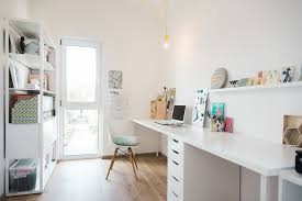 home office interior design. Whitewashed Scandinavian Home Office Interior Design Home Office T