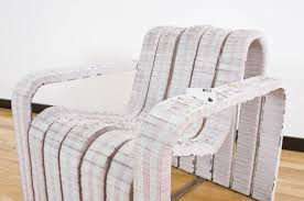 recycled paper furniture. Card Decks Chair Recycled Furniture Recycling Paper \u0026 Books