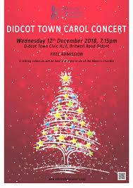 Christmas Concert Poster Town Carol Concert 2018 12 12 19 15 00 To 2018 12 12 20 30 00
