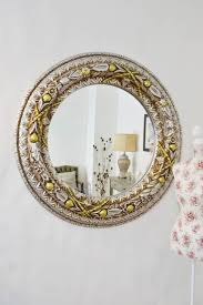 Silver/Gold Large New Round Antique Style Decorative Wall Mirror 3ft7  (114cm)