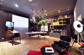 awesome home office ideas. Awesome Home Office With Pinball Machine Decor Interior Design Ideas