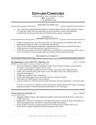 Resume Objective First Job Samples Fresh High School Student