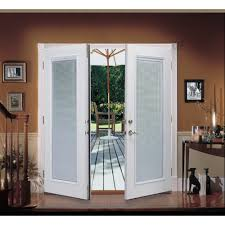image of reviews for patio door with built in blinds