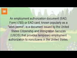 What Is An Employment Authorization Card? - Youtube