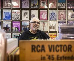 Cranky old man at Las Vegas Wax Trax records boasts serious.