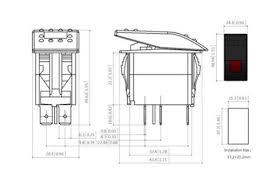 jeep rocker arm electric mx tl bandc 3 pin spst marine boat jeep onoff led rocker switch 12v 24
