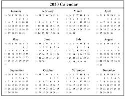 Monthly 2020 Calendar Templates Editable 2020 Calendar Printable Template Blank With Notes