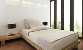 bedroom minimalist. This Bedroom Also Makes Use Of A Platform Bed To Eliminate Distractions And Keep The Look Simple. Floor-to-ceiling Panes Glass Warm Wood Provide Minimalist
