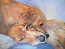 palette knife painters daily painting small oil painting dog painting dog portrait puppy love by schiff 14x18x1 5