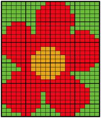 Knitting Charts Free Large Intarsia Flower Knitting Chart Knitting And Com