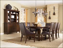 black polished wooden dining table white high