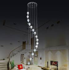 crystal hanging stair lamp lights villa floor curtain long hanging chandelier chandelier llfa chandelier earrings outdoor chandelier from nimiled