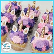 Pink Purple Unicorn Cupcakes Blue Sheep Bake Shop
