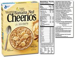 honey nut cheerios nutrition label inspirational big g cereals list