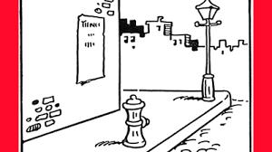 How To Draw A Cartoon City Street Sidewalk Scene With Easy Step By