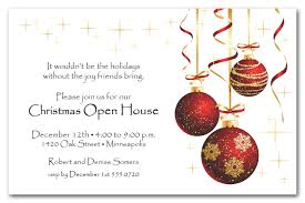 Christmas Inviations Red Ornaments And Gold Starlights Holiday Invitations
