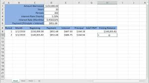 Mortage Amortization Table Mortgage Amortization Table Youtube