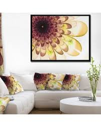 designart brown yellow typical flower fractal floral framed canvas art print 22 in on typical wall art size with amazing deal on designart brown yellow typical flower fractal