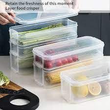 Sıcak plastik saklama kutuları buzdolabı saklama kutusu gıda saklama kapları  kapaklı mutfak dolabı dolap dondurucu masa düzenleyici|Bottles,Jars &  Boxes