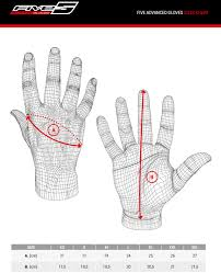 Five Gloves Size Chart Five Globe Replica Textile Gloves Racer