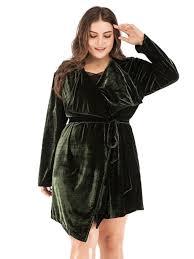 wide lapel asymmetric lace up plus size women s trench coat