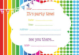 Party Invites Online Free Rainbow Party Invitation In 2019 Rainbow Party