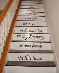 Stairs Quotes Mesmerizing Stair Decals Quotes Stairway Decals Quote We Are A Family In Etsy