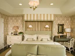 Indian Inspired Bedroom Interior With Decorative Floral Wallpaper (Image 16  of 30)