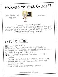 Preschool Welcome Letter Template Parent Letters From Home