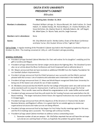 Format For Minutes Writing Example Of Any Minutes A Meeting Taken During Examples