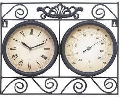treasures quot indoor outdoor clock thermometer